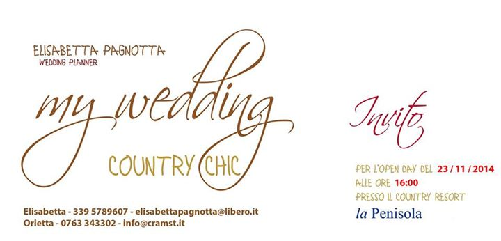 MY WEDDING COUNTRY CHIC – 23 NOVEMBRE 2014